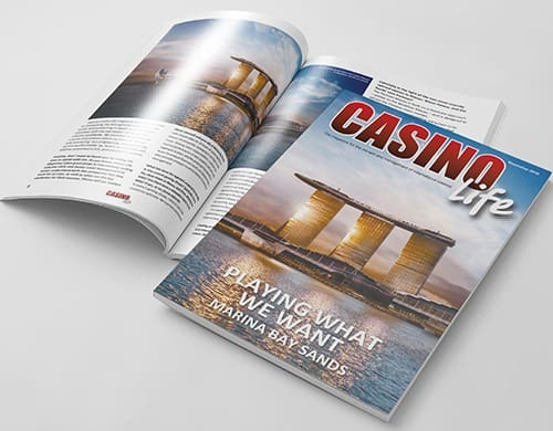 magazine design casino life