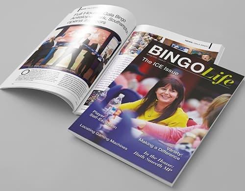 magazine design bingo life