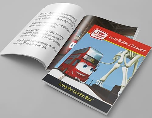 book design larry the london bus
