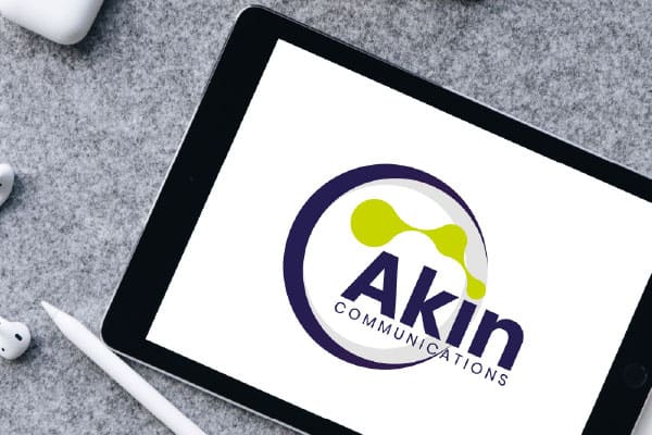 Akin Communications Logo Branding