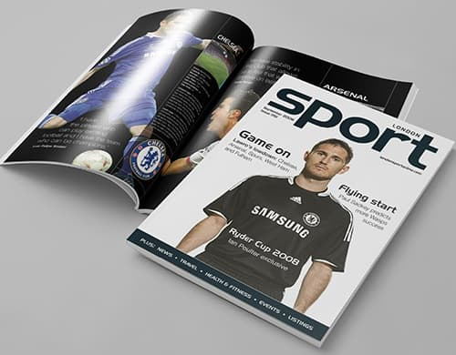 magazine design london sport