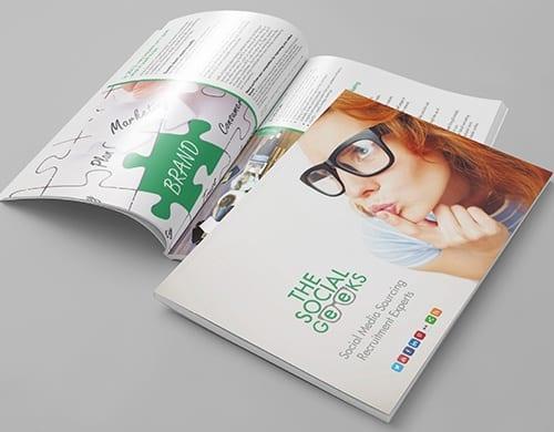 brochure design social geeks